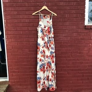 Off White Floral Maxi